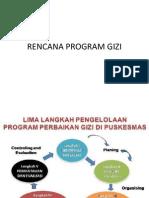 Rencana Program Gizi