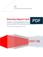 UNM Diversity Report Card 2007-08