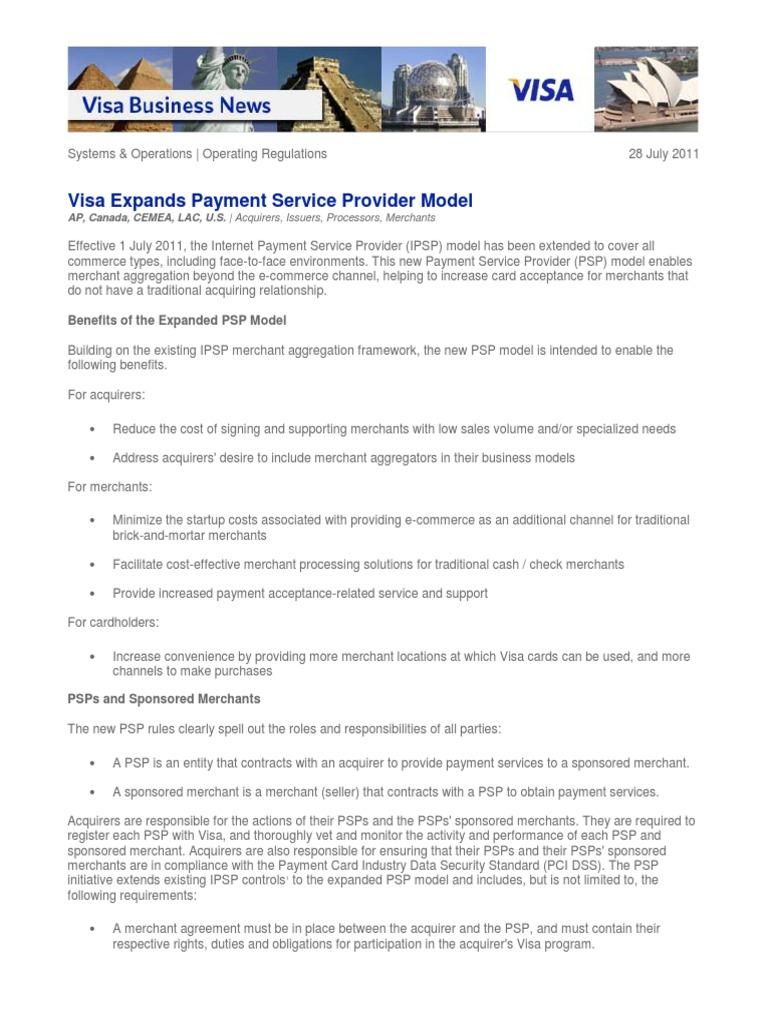 Visa expands payment service provider model visa inc payment visa expands payment service provider model visa inc payment card industry data security standard platinumwayz