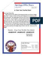 Sand Springs Elks January 2014 Newsletter