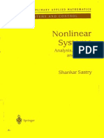 Nonlinear Systems by s s sastry
