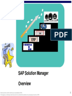 SAP Overview SolutionManager