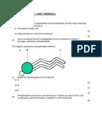 Biology Practise Questions Unit 1 Module 1
