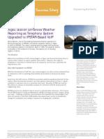 Xigou Station Enhances Weather Reporting as Telephony System Upgraded