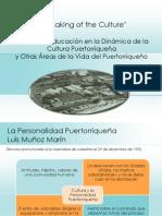 Remaking of the Culture, Cultura y Educación Puertorriqueña