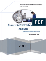 Differential Liberation PVT fluid test