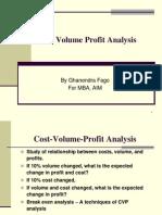 Cost Volume Profitanalysis