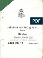 2320-903-12 Handbog, 3 t Bedford, 4x4, RLC Og RLW, Diesel (1964 Dec)