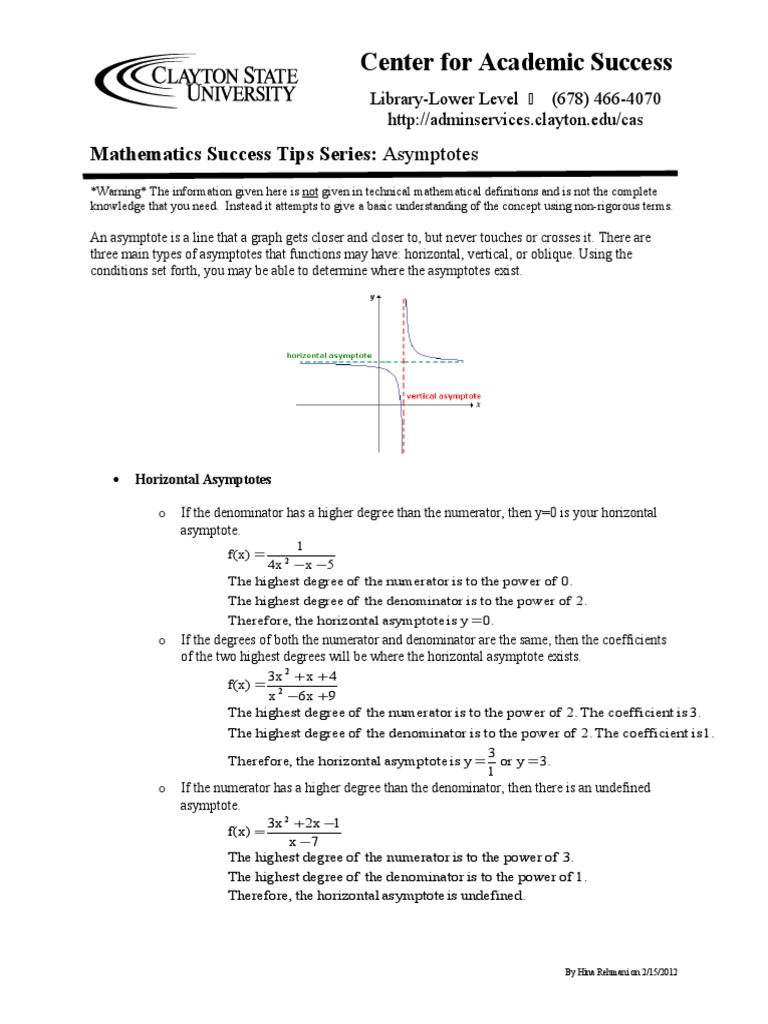 Asymptotes Worksheet Asymptote Algebraic Geometry