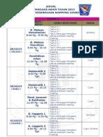 Jadual Ujian Oti 6 2013