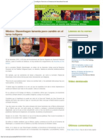 Servindi » México_ Stavenhagen lamenta poco cambio en el tema indígena _ Servici
