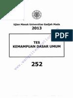 [Www.wangsiteducation.com]UM UGM 2013 Dasar Kode 252(Mark)