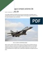 Nicaragua Compra Aviones de Combate MIG