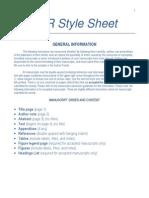 JCR Reference Style Sheet