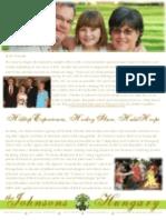 Johnson Prayer Letter Update Summer 2009
