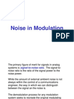 Noise in Modulation