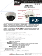 SAFE IR Satellite Spec Sheet