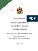 2003 INSET SMASSE Malawi Pilot Programme Progress Report I (Eng.)
