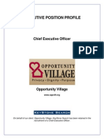 Executive Position Profile-Opportunity Village CEO