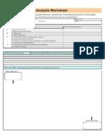 Opportunity Analysis Worksheet