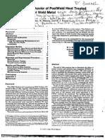 Stress Rupture Behavior of Post Weld Heat Treated 2%281 4 Cr%2d1mo Steel Weld Metal 12495