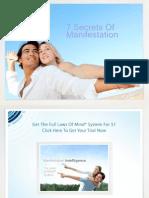 7 Secrets of Manifestation