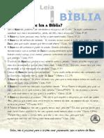 PLANO ANUAL DE LEITURA BÍBLICA