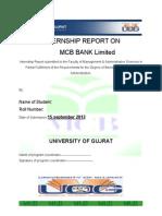 36574667 Internship Report of Mcb 2010