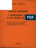 Delitos Cambiarios y Responsabilidad Penal de La Persona Juridica - N Stor J. Moncayo