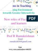 New Roles of Facilitators and Learners