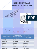 No. 1 - Basic English for Adults - Present Negativa Form