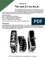 Ammunition 3 7cm Tank or Anti Tank Gun in German