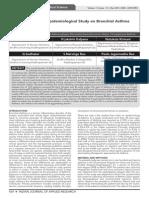 Epidemiology of Bronchial  Ashtma