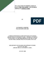 A LINGUISTIC ANALYSIS OF MODIFICATION IN ZAYNAB ALKALI'S THE STILLBORN  AND GEORGE ORWELL'S ANIMAL FARM