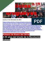 Noticias Uruguayas Martes 31 de Diciembre Del 2013