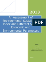 An Assessment of Environmental Sustainability Index and Different Socio-Economic and Environmental Parameters