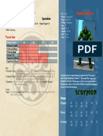 Marvel Heroic RPG Scorpion