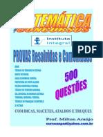 500 exercícios de Matemática