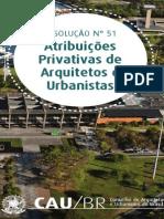 Atribuições privativas a arquitetos