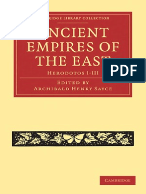 Ancient Empires of the East – Herodotos I-III–Sayce (ed