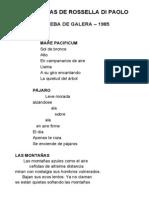 Cuatro Poemarios de Rossella Di Paolo
