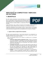Lectura 4 - Mercados No Competitivos y Mercado de Factores