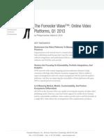 Forrester Wave Reports Online Video Platforms and Video Platforms for the Enterprise