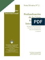 MECON - Nota Técnica - Profundización de la Crisis Financiera Internacional