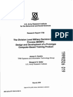 The Division Level Military Decision-Making