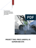 ARTIFACT #1 - EnVL Pollution and Regulation - Price Landfill Project