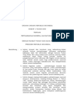 UU 4 Tahun 2009 Tentang Pertambangan Mineral Dan Batubara