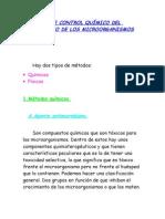 CLASE 2 MÉTODOS DE CONTROL QUÍMICO DEL CRECIMIENTO DE LOS MICROORGANISMOS