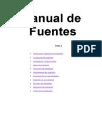 Manual de Fuentes