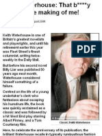 """Keith Waterhouse - """"That B**** Liar was the making of me!"""""""
